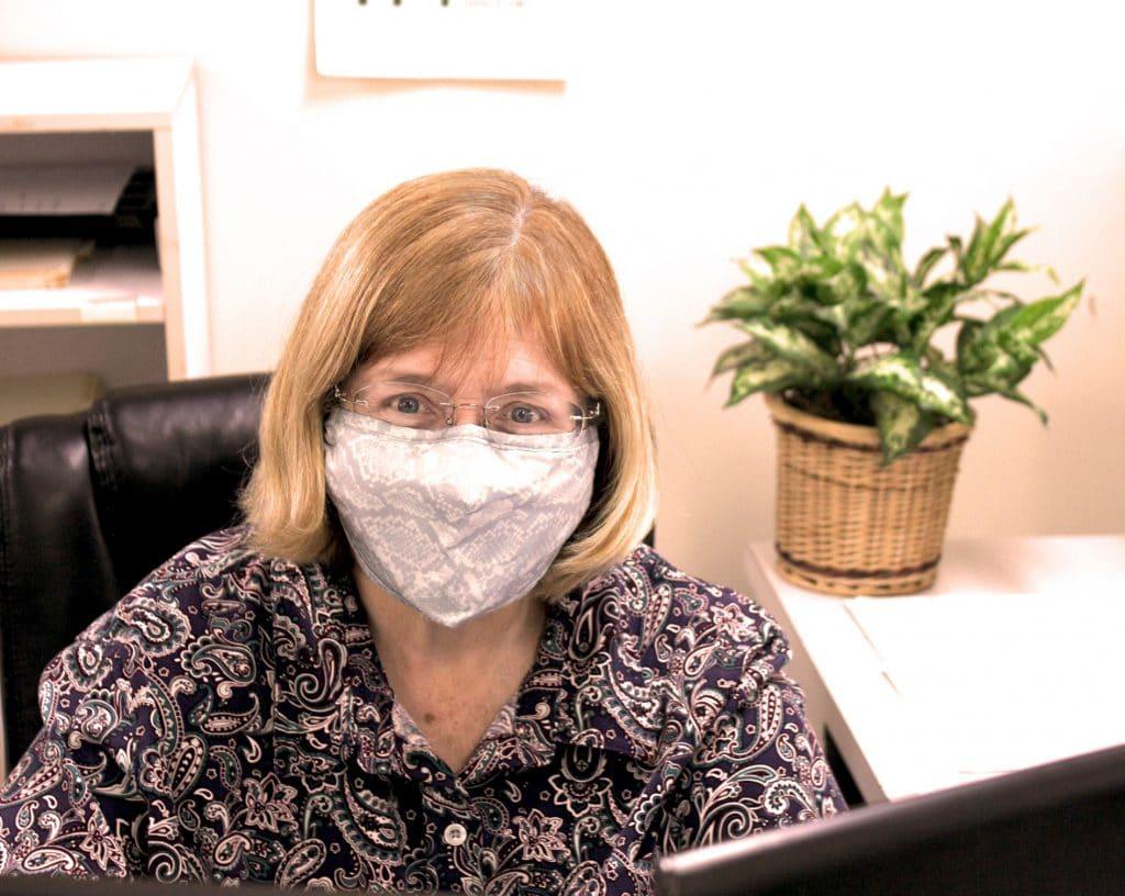 Linda at TPI's Front desk